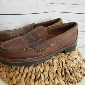 Ll l.l. Bean brown leather Penny Loafers boat shoe